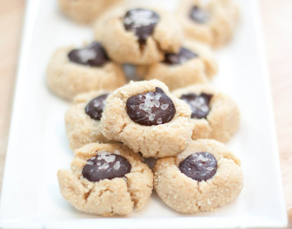 Vegan Thumbprint Cacao Thumbprint Cookies via Served From Scratch