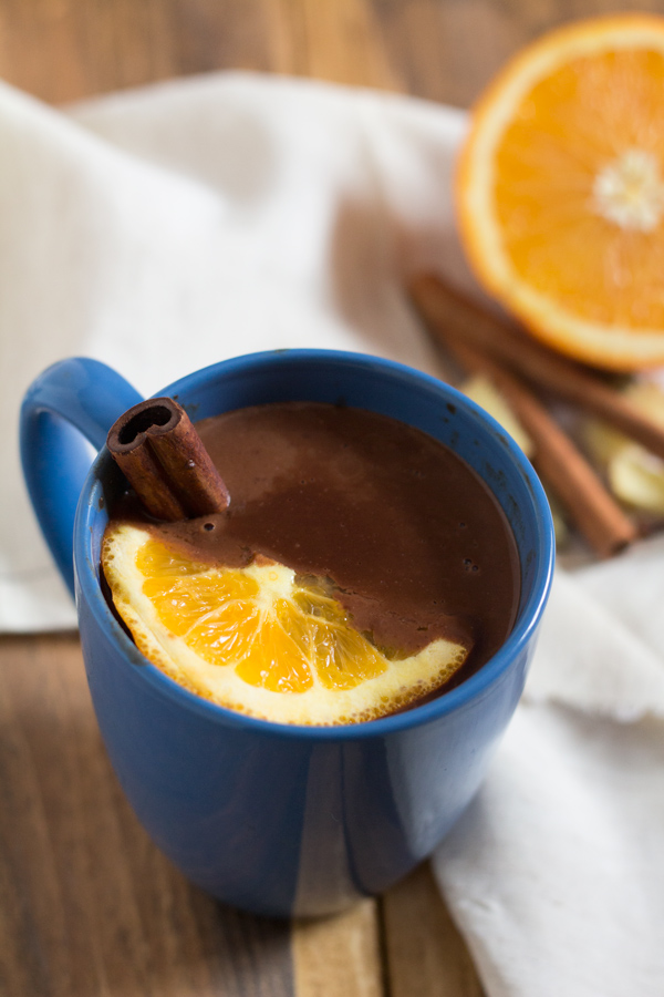 Vegan Coconut Orange Chai Hot Chocolate via @ExSloth | ExSloth.com