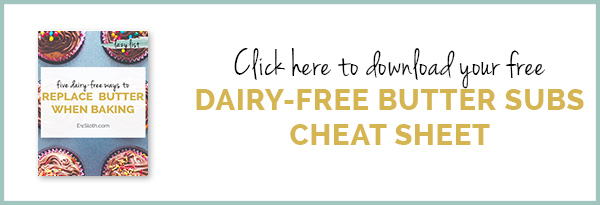 5 healthy diary-free butter replacements for baking via @ExSloth | ExSloth.com