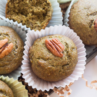 Green Eggless Banana Muffins