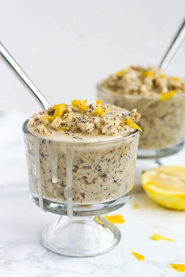 Lemon Poppy Seed Oatmeal via Emilie Eats