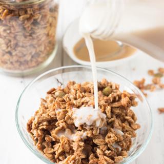Vegan Coconut Maple Tahini Granola