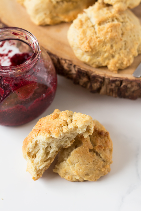 Easy Vegan Drop Biscuits via @ExSloth | ExSloth.com