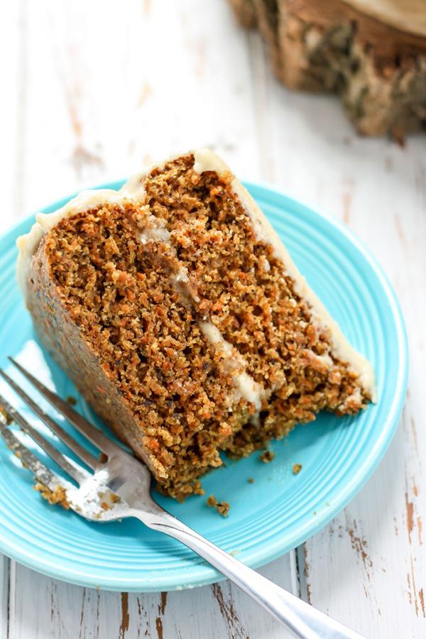 Whole Wheat Vegan Carrot Cake via Fit Mitten Kitchen - @ExSloth