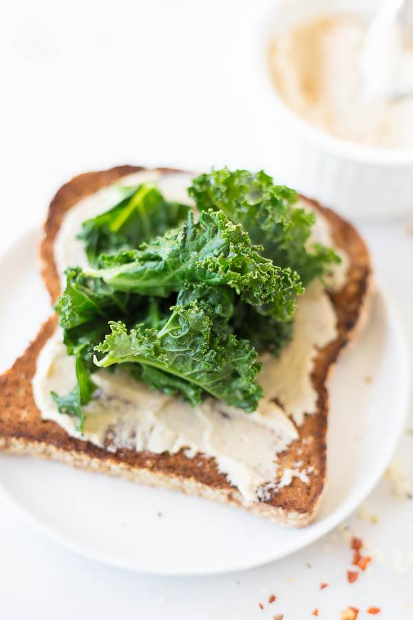 Hummus Kale Toast