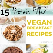 15 Protein-Filled Vegan Breakfast Recipe via @ExSloth   ExSloth.com