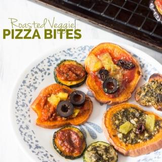 Easy Roasted Veggie Pizza Bites