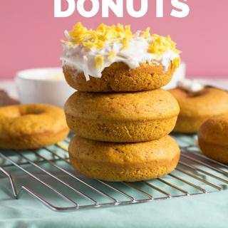 Vegan Baked Golden Milk Donuts