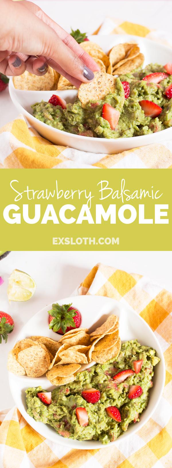 Strawberry Balsamic Guacamole via @ExSloth | ExSloth.com