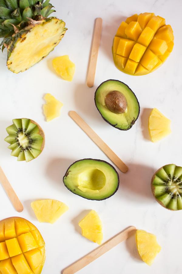 Tropical Avocado Popsicles for Ice Cream Sundays - vegan, paleo, gluten-free via @ExSloth | ExSloth.com