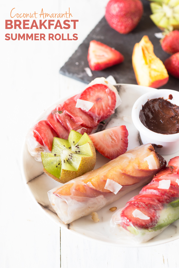Easy Vegan Breakfast Summer Rolls (rice paper rolls or fresh spring rolls) via @ExSloth   ExSloth.com