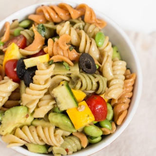Avocado Summer Squash Pasta Salad