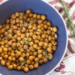 Rosemary Garlic Roasted Chickpeas