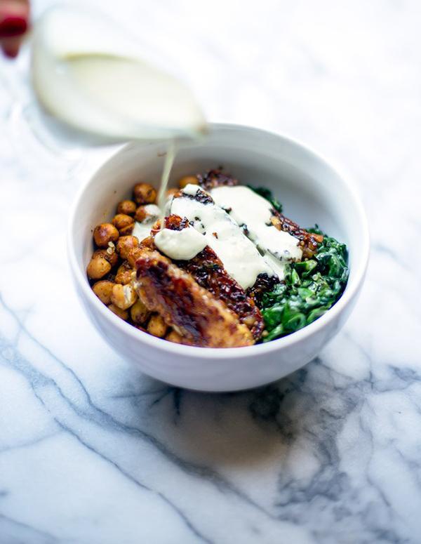 Blessed Bowl with Easy Tahini Sauce - 10 Vegan Salad Dressings | ExSloth.com