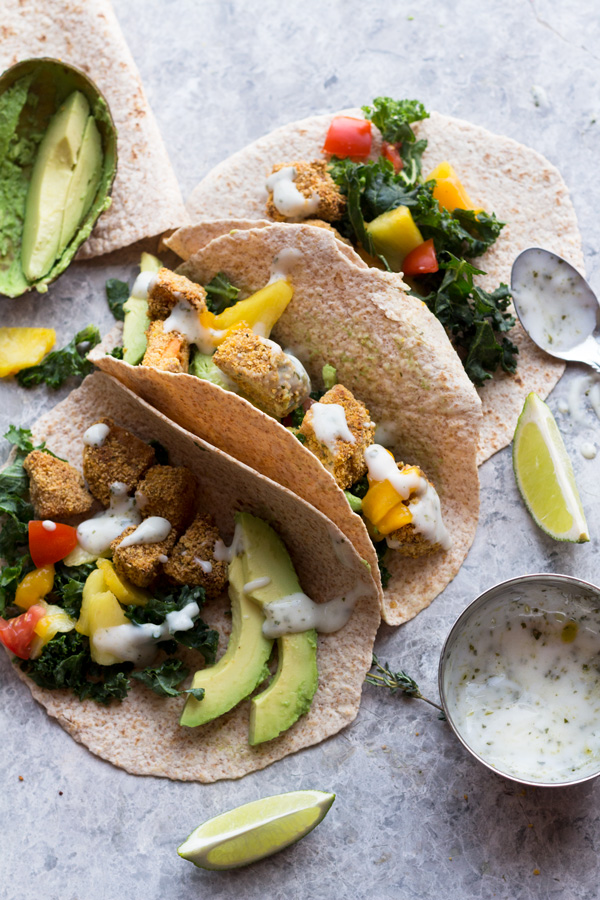 These crispy jerk sweet potato tacos are hearty, spicy, flavourful and filled with plant-based goods. They make a great vegan lunch or dinner. ExSloth.com