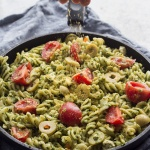 Spicy Vegan Cilantro Pesto Pasta